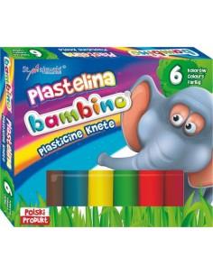 Plastelina BAMBINO 6 kolorów standard-3356