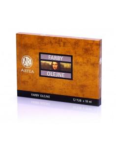 Farby olejne 12 kolorów tubka-18ml zestaw II ASTRA-3080