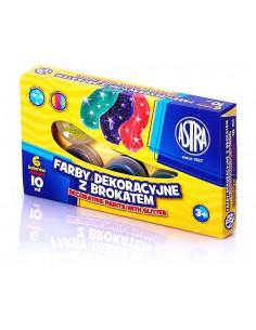 Farby brokatowe 6 kolorów 10 ml ASTRA-3083