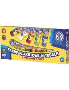 Farby plakatowa 12 kolorów tuba ASTRA -3095