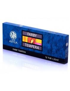 Farby tempera tubka 12 kolorów 20ml ASTRA-3099
