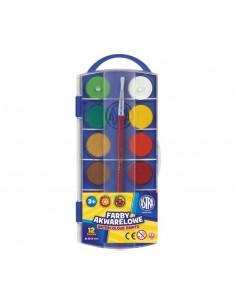 Farby akwarelowe 12 kolorów FI23,5 ASTRA -3102