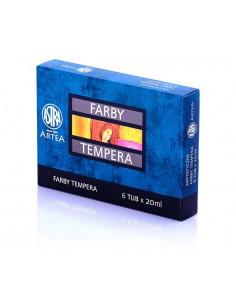Farby tempera 6 kolorów 20ml ASTRA-3106