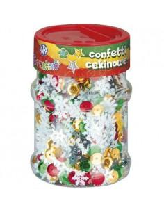 Konfetti cekinowe kółka mix ŚWIĄTECZNY 100 g ASTRA-3062