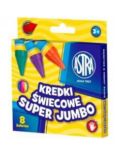 Kredki woskowe okrągłe SUPER JUMBO 8 kol. ASTRA-3178