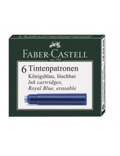 Naboje atramentowe do pióra niebieskie 6 szt. Faber Castell