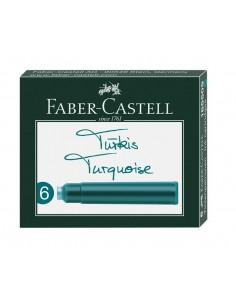 Naboje atramentowe do pióra turkusowe 6 szt. Faber Castell