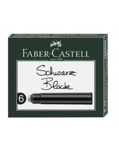 Naboje atramentowe do pióra czarne 6 szt. Faber Castell