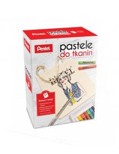 Kredki pastele PENTEL PTS-7 BN15 do tkanin   torba-5223