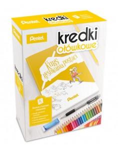 Kredki ołówkowe PENTEL zestaw do nauki rysowania kurs