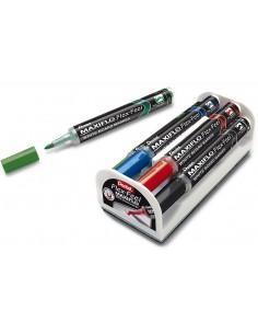 Markery suchościeralne komplet 4 kolory + gąbka PENTEL MWL5SBF-4N