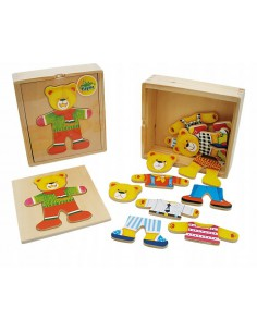 Układanka drewniana MIŚ puzzle