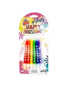 Świeczki Urodzinowe z napisem HAPPY BIRTHDAY