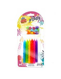 Świeczki Urodzinowe kolorowe