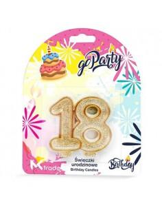 Świeczki Urodzinowe w kształcie 18