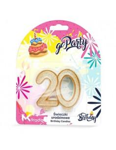 Świeczki Urodzinowe w kształcie 20