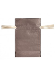 Torebka ozdobna prezentowa brązowa 20x30 cm