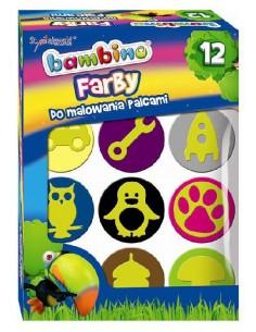 Farby do malowania palcami 12 kolorów Mini Zoo ST