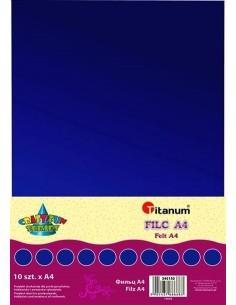 Filc dekoracyjny A4 2 mm 200g ULTRAMARYNA 10 szt.-2589