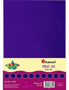 Filc dekoracyjny A4 2 mm 200g FIOLET 10 szt.-4286