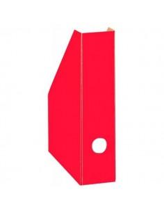 Pojemnik A4 na czasopisma kartonowy 7 cm czerwony-3734