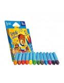 Kredki TETISKI świecowe 12 kolorów-6405