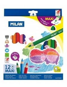 Kredki ołówkowe JUMBO 12 kolorów MILAN   temper. -5172