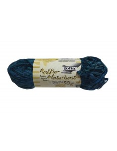 Sznurek Rafia naturalna dekoracyjna- niebieska 50 g