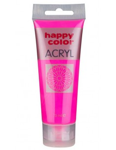 Farba akrylowa 75ml różowa fluo Happy Color