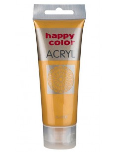 Farba akrylowa 75ml złota Happy Color