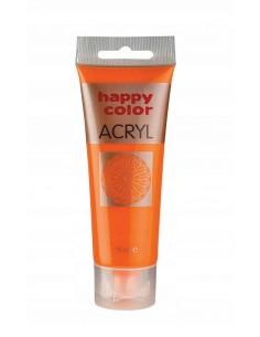 Farba akrylowa 75ml pomarańczowa Happy Color