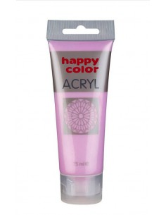 Farba akrylowa 75ml metaliczna różowa Happy Color