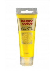 Farba akrylowa 75ml żółta Happy Color