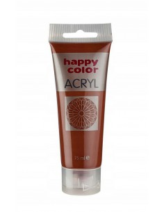 Farba akrylowa 75ml brązowa Happy Color