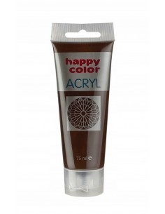 Farba akrylowa 75ml ciemno brązowa Happy Color