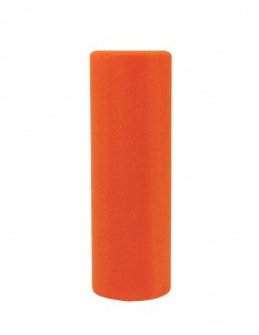 Tilu na rolce materiał dekoracyjny pomarańczowy