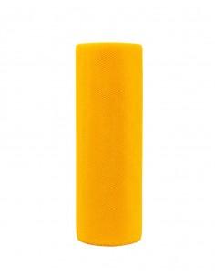Tiul na rolce materiał dekoracyjny żółty