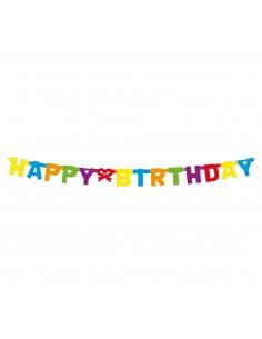 "Dekoracja girlanda urodzinowa napis ""HAPPY BIRTHDAY"""