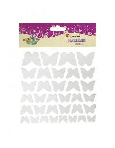Naklejki do dekoracji motylki 34 szt. materiałowe