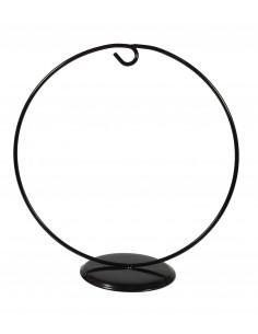 Stojak metalowy 17,5x17,5cm czarny okrągły