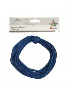 Sznurek papierowy ozdobny 5m 0,35mm ciemno niebieski