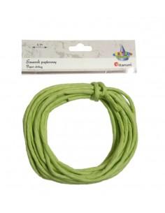 Sznurek papierowy ozdobny 5m 0,35mm jasno zielony