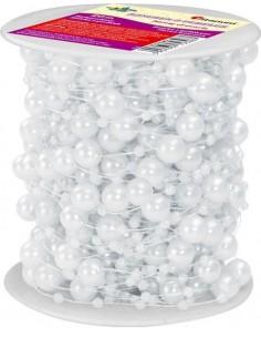 Sznurek ozdobny w perełki 20m Biały