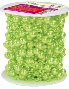 Sznurek ozdobny w perełki 20m jasny zielony
