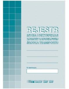 Rejestr mycia i dezynfekcji samochodu A5 H91-3-161