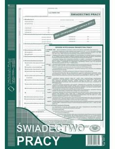 Świadectwo pracy A4 501-1-156
