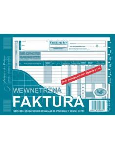 Faktura wewn. 1 1 A5 netto 163-3E-106
