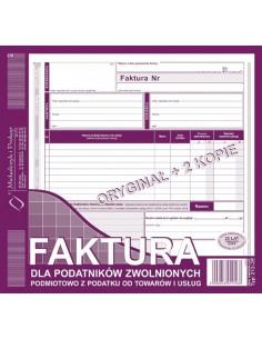Faktura dla zwolnionych podmiotowo z podatku 212-2E