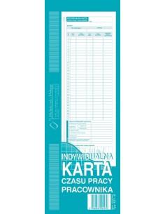 Indywidualna karta czasu pracy pracow 1/2 A4 531-0-93