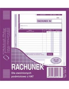 RACHUNEK DLA ZWOLNIONYCH PODMIOTOWO Z VAT 2/3 A5-89